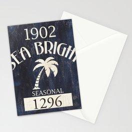Sea Bright Beach Badge Stationery Cards