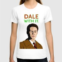 dale cooper T-shirts featuring DALE WITH IT. by Chris Piascik