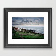 Seaside Cottage Framed Art Print
