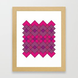 Pink Argyle Bliss Framed Art Print