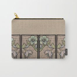 Helleborus Patterned Carry-All Pouch
