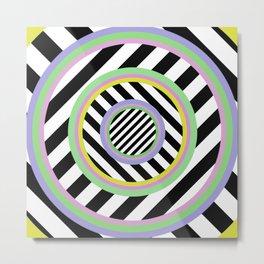 Circles, stripes and pastel colours Metal Print
