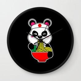 Panda Kawaii Tokio Japan Kami  Ramen Egg Noodles Wall Clock