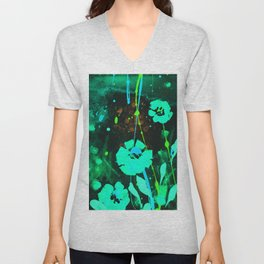Dreaming In Blue 100zm by Kathy Morton Stanion Unisex V-Neck