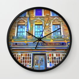 The Prospect Of Whitby Pub Pop Art Wall Clock