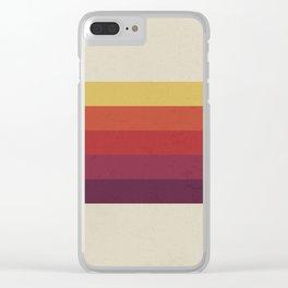Retro Video Cassette Color Palette Clear iPhone Case