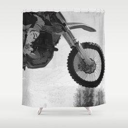 Motocross Dirt-Bike Racer Shower Curtain