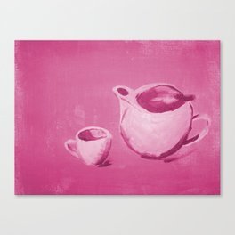 Monochrome Tea Pot Canvas Print