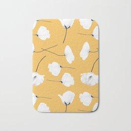 Poppies on mustard Bath Mat