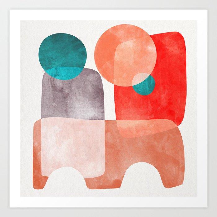 Bridge #abstract #painting Art Print