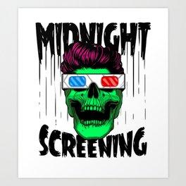 Midnight screening Art Print