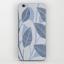 Leaves in blue iPhone Skin