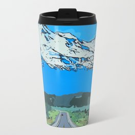 Abstract Painting Mt Everest Travel Mug
