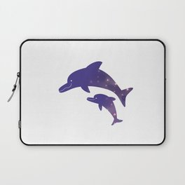 Universe  in Parent-child of dolphin Laptop Sleeve