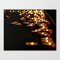 Candles for the Madonna Canvas Print