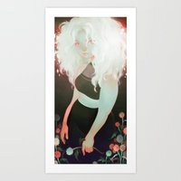 milk Art Prints featuring milk by loish