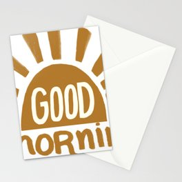 Good Morning Yellow Sun Stationery Cards