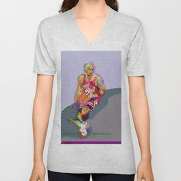 Chicago Sports Icon #23 Art Print Basketball Unisex V-Neck