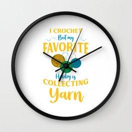 Colorful Ball Yarn Collector Crochet Hobby Gift Wall Clock