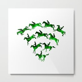 Connected to Showjumping (Green) Metal Print