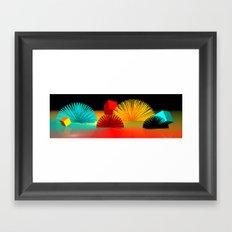 hedgehog world -3- Framed Art Print