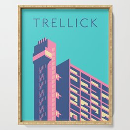 Trellick Tower London Brutalist Architecture - Text Sky Serving Tray
