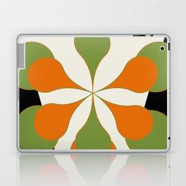 Mid-Century Modern Art 1.4 - Green & Orange Flower Laptop & iPad Skin