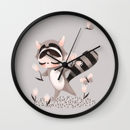 Litlle Raccoon Wall Clock