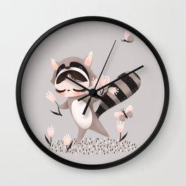 Litlle Raccoon Wall Clock