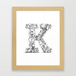 The K - Letter/Monogram Framed Art Print
