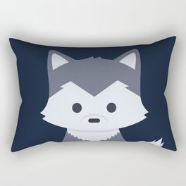 Little Wolf Rectangular Pillow