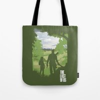 the last of us Tote Bags featuring The Last Of Us by Pixel Design