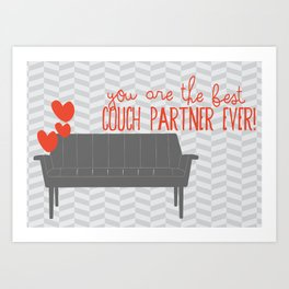 Couch Love Art Print