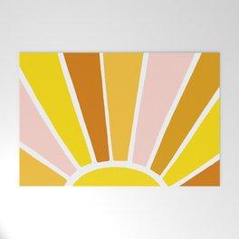 Sun Ray Burst Welcome Mat