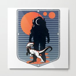 The Astronaut's Pet Metal Print