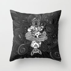 Grizzly and Sphynx Throw Pillow