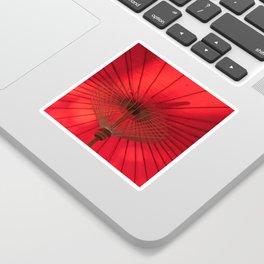Red Parasol Sticker