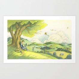 Tolkien In The Birmingham Hills Art Print