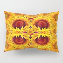 MODERN RED ART &  YELLOW  SUNFLOWERS DESIGN Pillow Sham