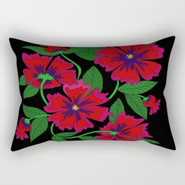 Red Poppy Rectangular Pillow