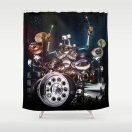 Drum Machine - The Band's Engine Shower Curtain