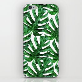 Monstera Pattern V3 Oil Painting #home #fashion iPhone Skin