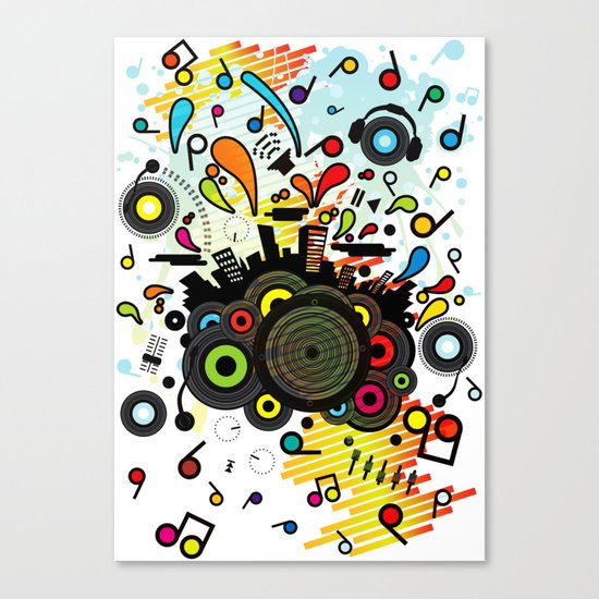POP_MUSIC Canvas Print