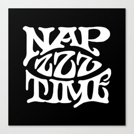 Nap Time Black and White Canvas Print