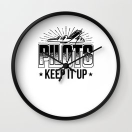 Pilot T-shirt for Aviation & Airplane Lovers Wall Clock
