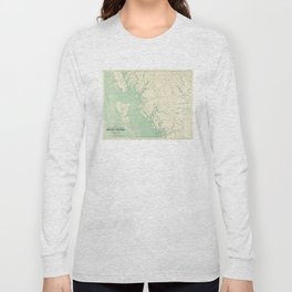 Vintage Map of British Columbia (1893) Long Sleeve T-shirt