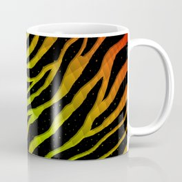 Ripped SpaceTime Stripes - Red/Lime Coffee Mug