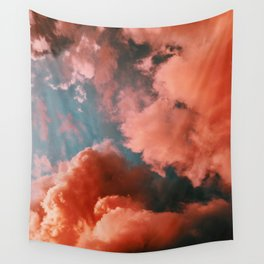 Pink clouds Wall Tapestry