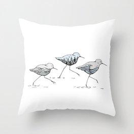""""""" Shorebirds """" Throw Pillow"""