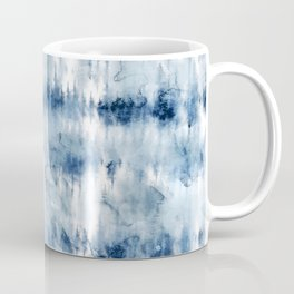 Modern hand painted dark blue tie dye batik watercolor Coffee Mug